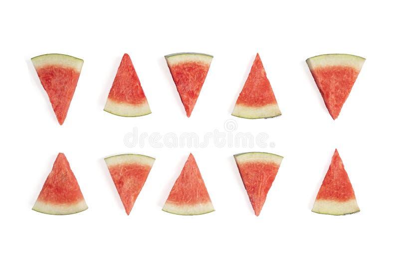 Water melon slices stock photos