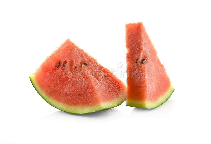 Water melon on white background stock photography