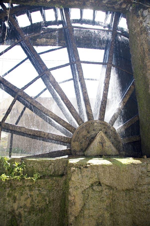 Download Water metal noria stock image. Image of europe, moss, spain - 5063451