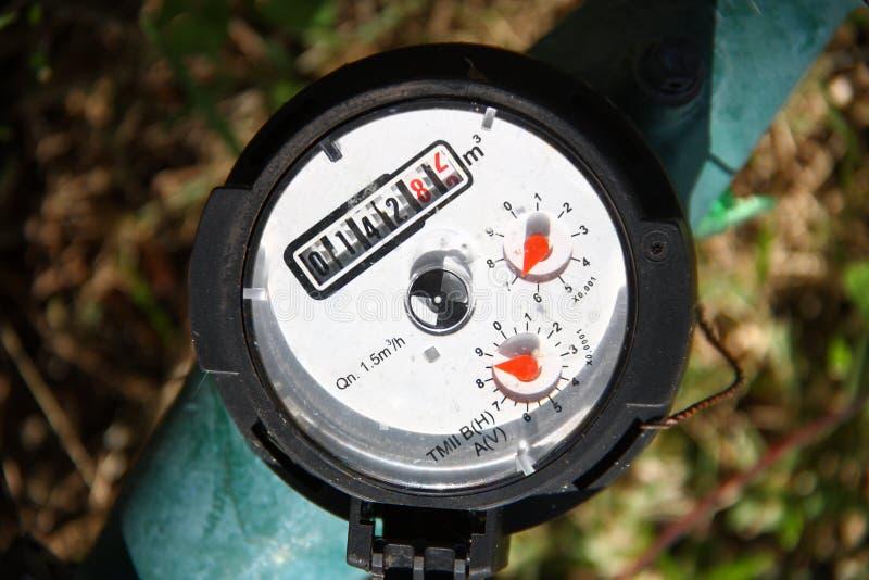Water meter - gauge. Water meter - controlling the water consume royalty free stock image