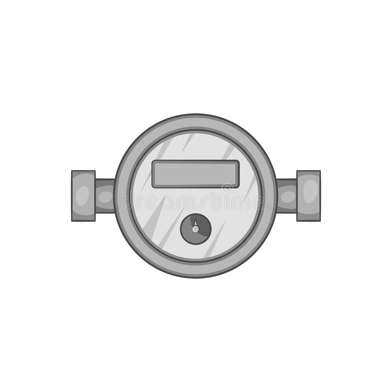 Water Meter Icon Black Monochrome Style Stock Vector Illustration