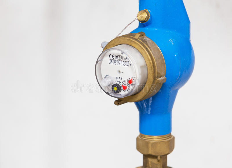 Water meter royalty free stock photos