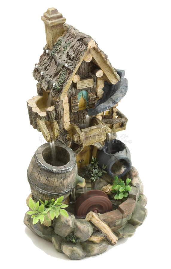 Water-mill breadboard model stock photos