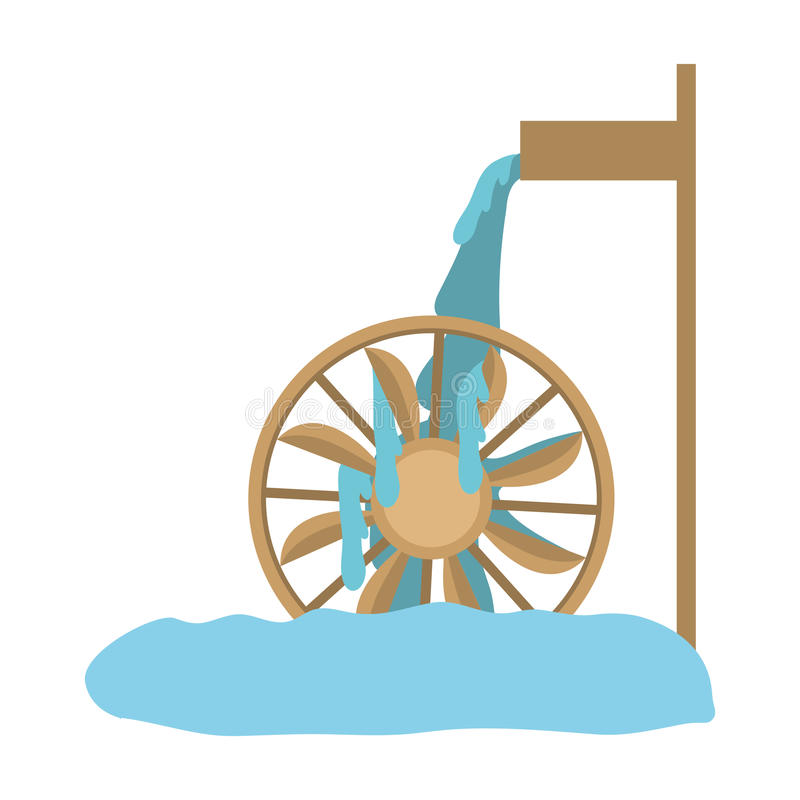 Water mill icon royalty free illustration