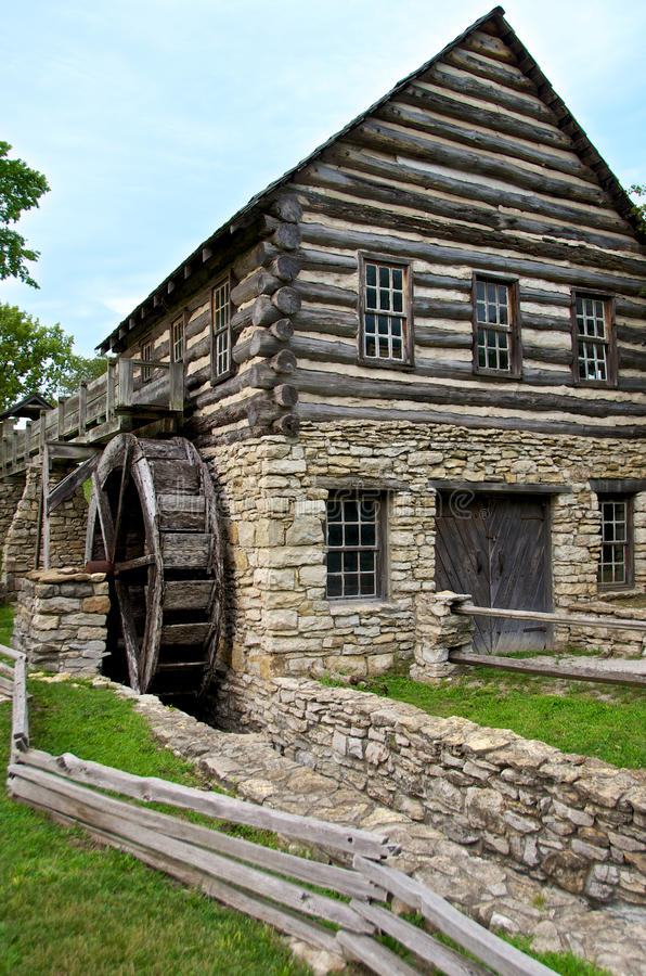 Download Water Mill Shoal Creek Living History Museum Stock Image - Image of watermill, city: 25410929