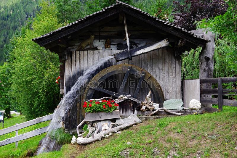 Old water mill in Grosskirchheim, Moelltal. stock image