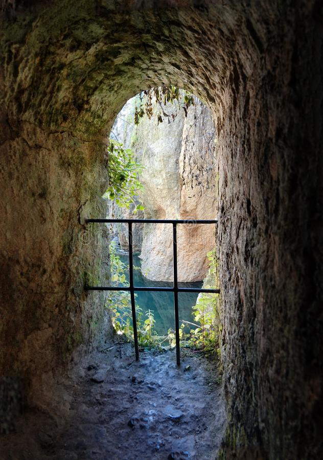 Water mine of Ronda in Andalusia, Spain stock photos