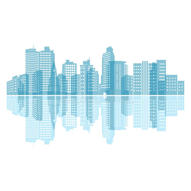 Free Water Mirror Reflection City Building Skyline Landscape Royalty Free Stock Photography - 140627297