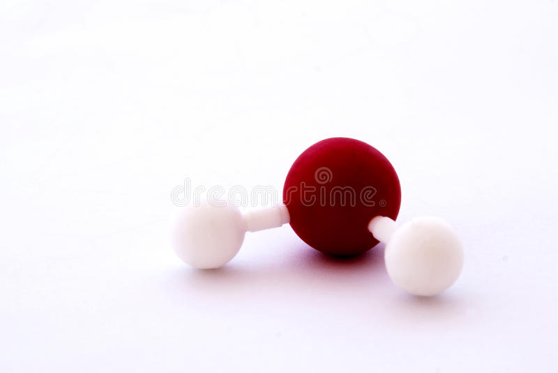 Water molecule royalty free stock photo