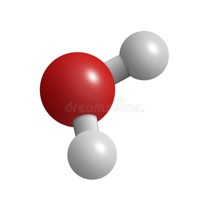 Water molecule royalty free illustration