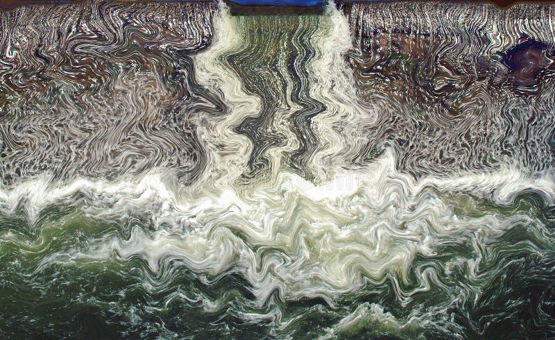 Water in motie stock illustratie