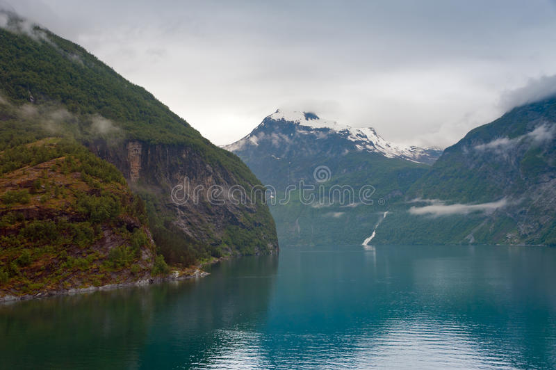 Water and mountain stock photo