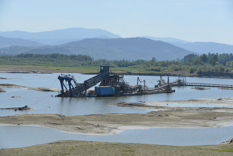 Water mud excavator royalty free stock image