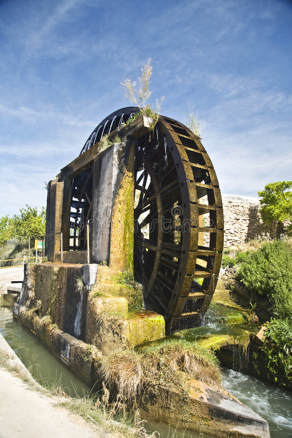 Download Water Noria With Canal Stock Image - Image: 5064151