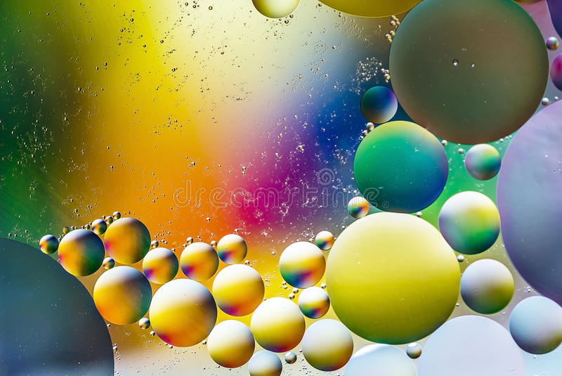 Water and oil. Dreamy colorful abstract background with water and oil royalty free stock photos