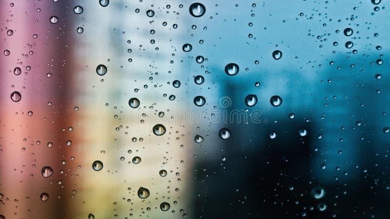 Water op glas stock afbeelding