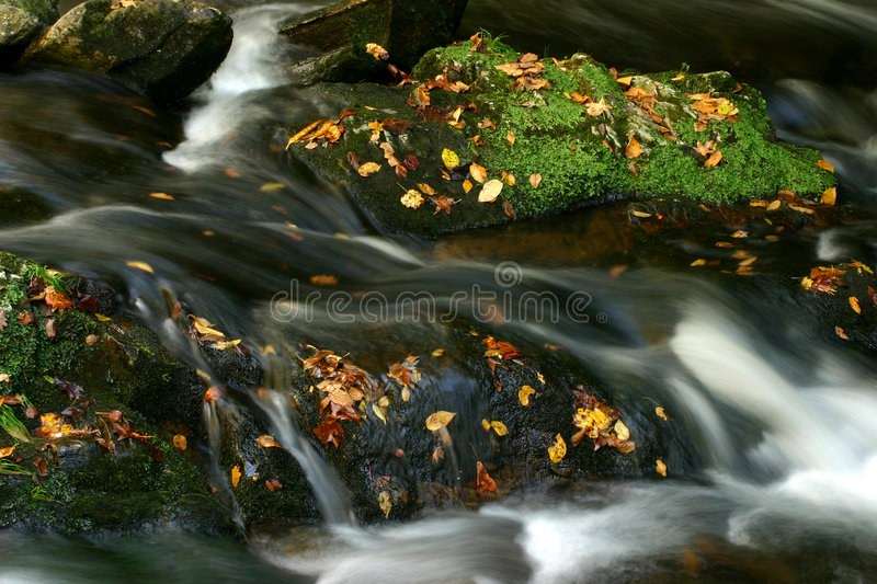 Water over the rocks royalty free stock image