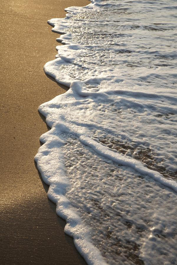 Download Water over seashore stock image. Image of evening, sand - 22787955