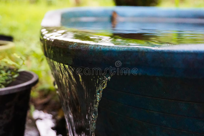 Water overflowing. stock photo