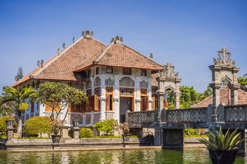 Water Palace Taman Ujung in Bali Island Indonesia - travel and architecture background stock photo