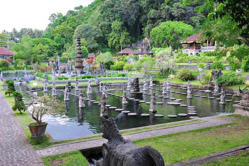 Water Palace of Tirtaganga stock photo