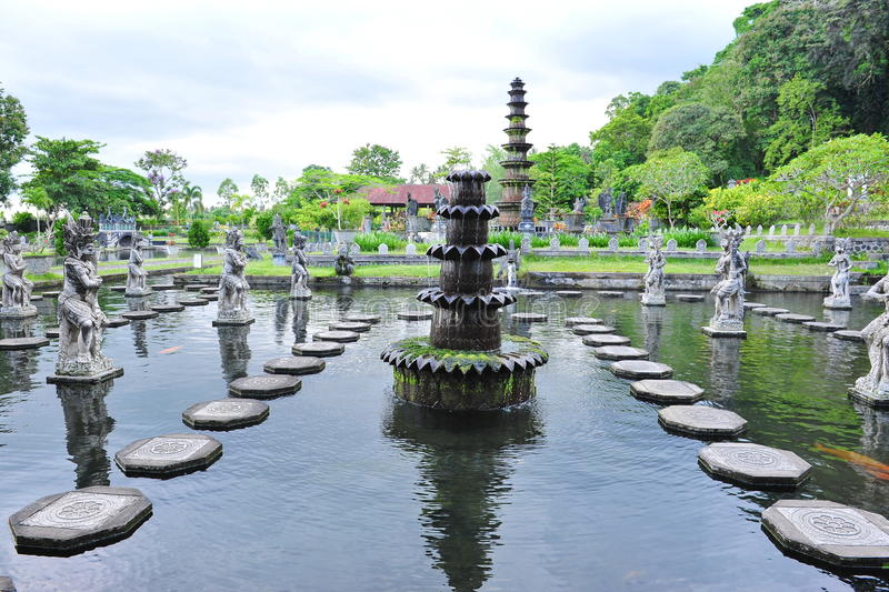 Water Palace of Tirtaganga stock image