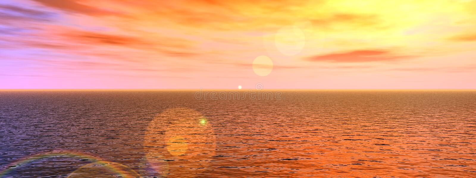 Download Water Panoramic stock illustration. Image of landscape - 587962