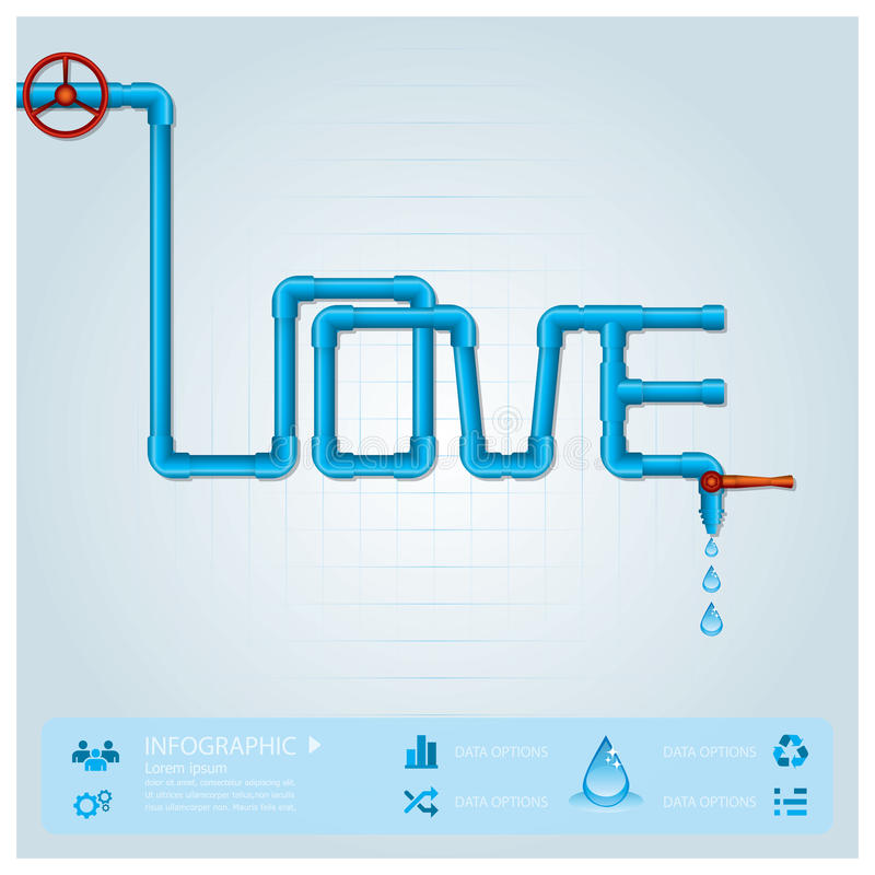 Download Water Pipe Business Infographic For Valentine Day Stock Vector - Image: 38925497