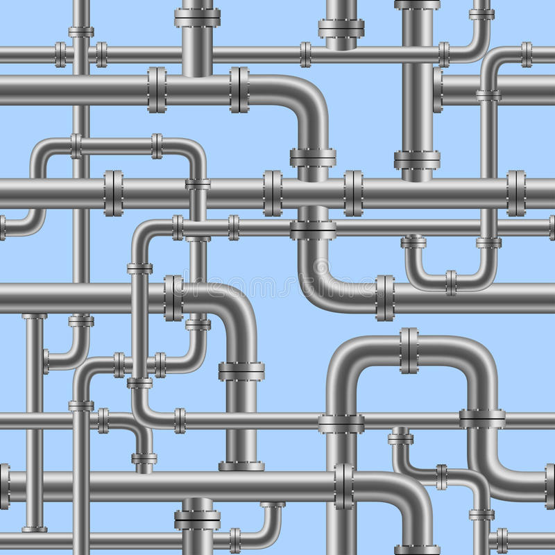 Water pipe seamless vector illustration