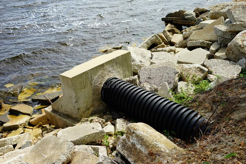Water pipe of st johns river. In Florida, USA stock image