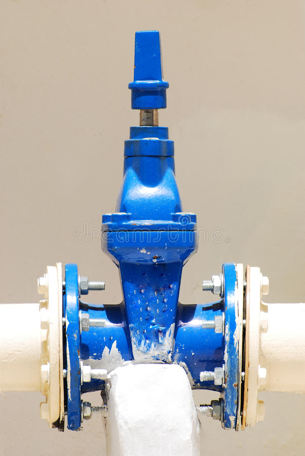 Water Pipe Valve Stock Image