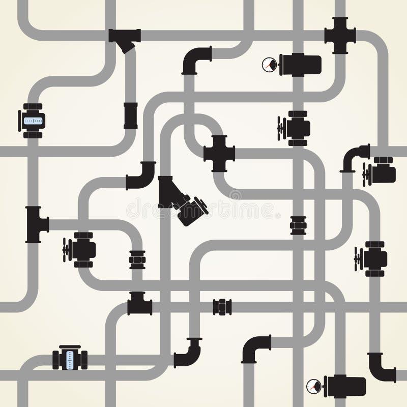 Water pipeline stock illustration