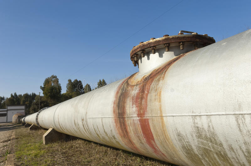 Water pipeline royalty free stock photos