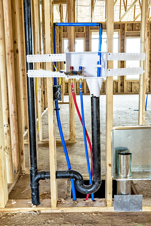 Water Pipes For A Washer And Dryer In New Construction