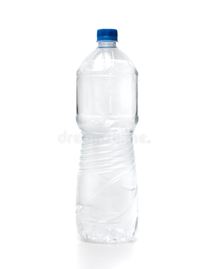 Water Plastic Bottle On White Background royalty free stock photography