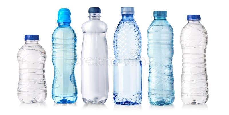 Water plastic fles royalty-vrije stock afbeeldingen