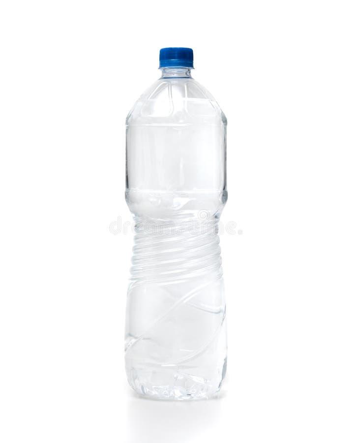 Water plastic fles op witte achtergrond royalty-vrije stock fotografie