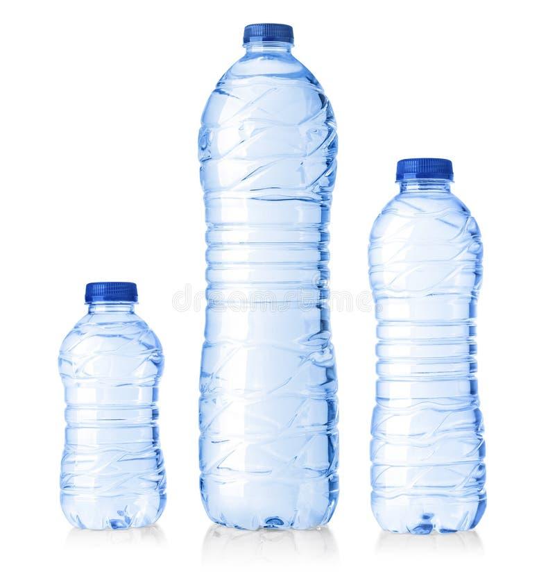 Water plastic flessen royalty-vrije stock foto