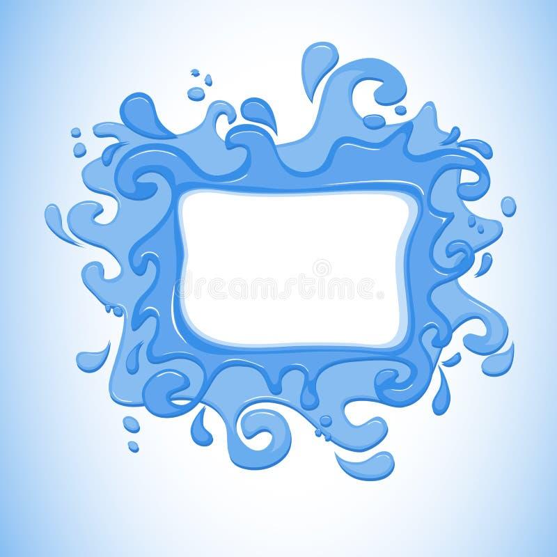 Water-plons royalty-vrije illustratie
