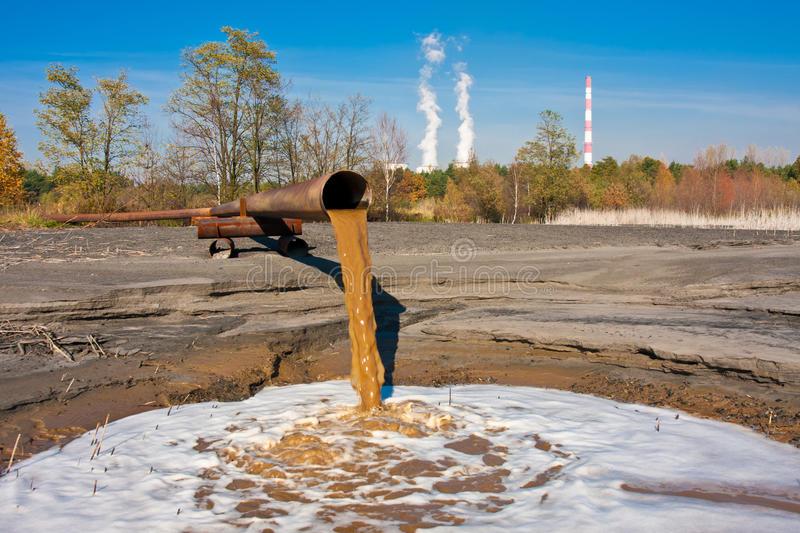 Water pollution stock image