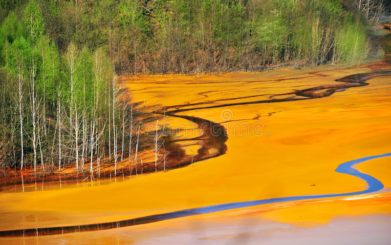 Water pollution stock images
