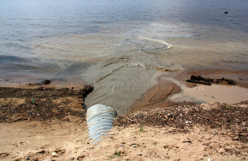 water pollution pipe royalty free stock images