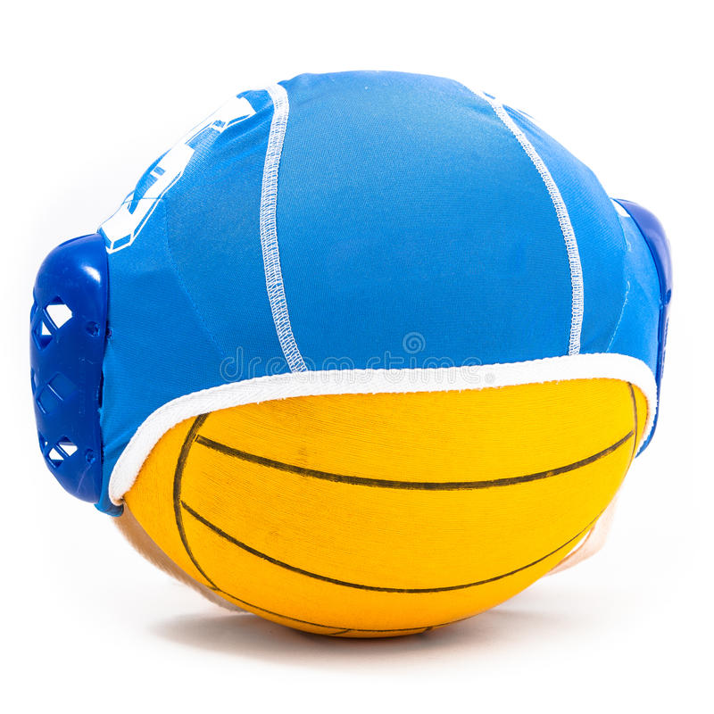 Water polo ball and cap