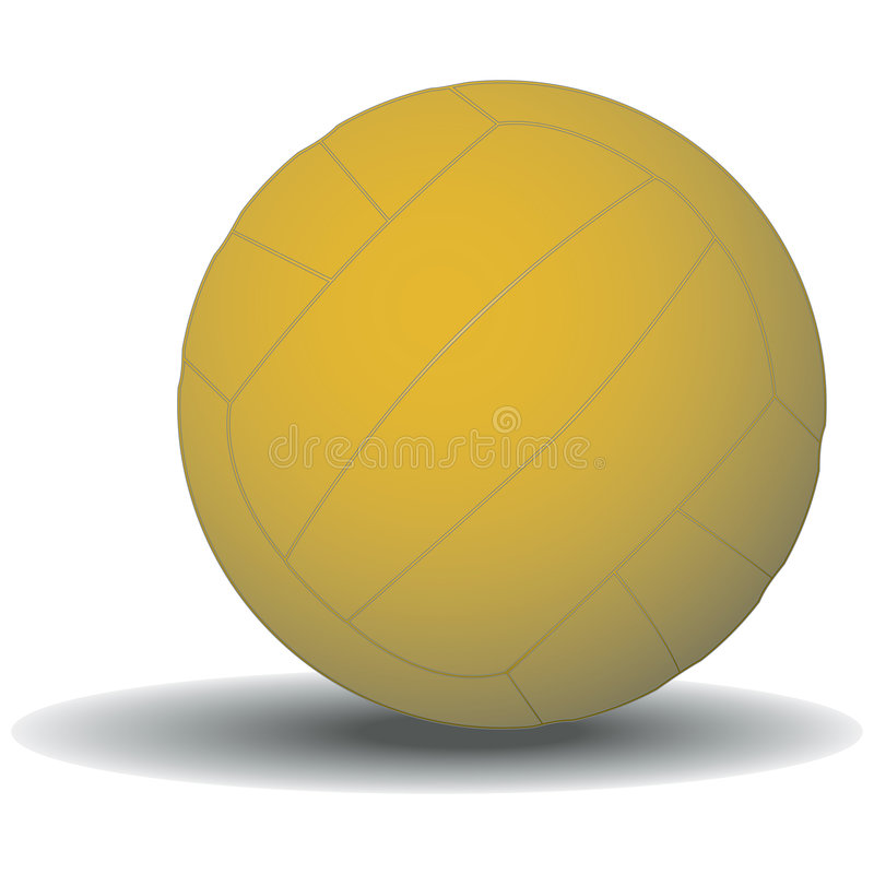 Water Polo Ball with clipping path. Illustration with clipping path royalty free illustration