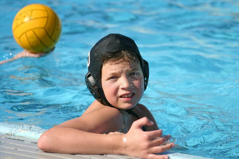 Water Polo Boy royalty free stock images