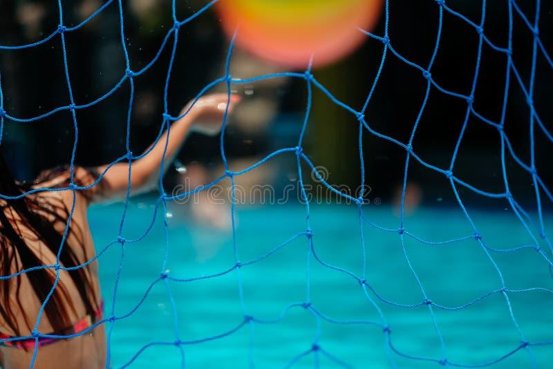 Water polo net stock photo