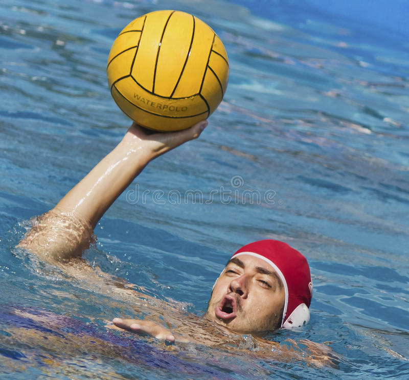 Download Water polo player stock photo. Image of keeper, challenge - 34294818