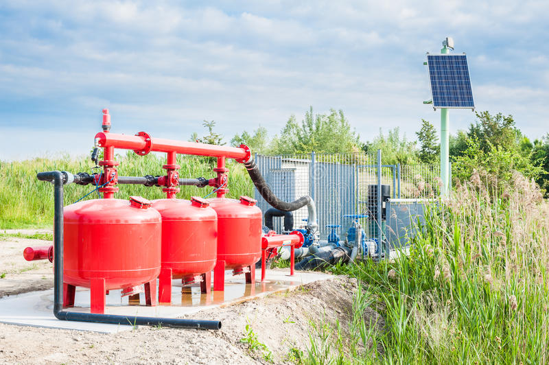 Water pompend systeem royalty-vrije stock afbeelding