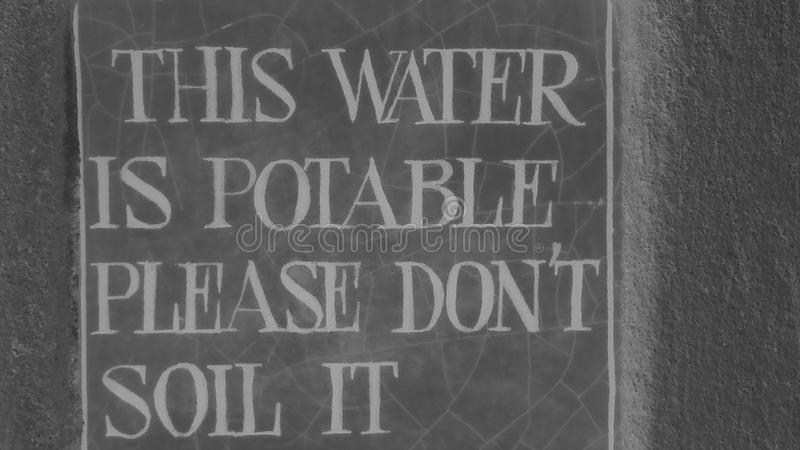 Water Potable. This water is Potable stock photos