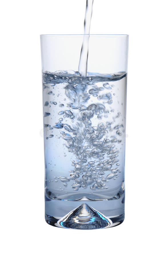 Free Water Pouring Into Glass Royalty Free Stock Photography - 24461547